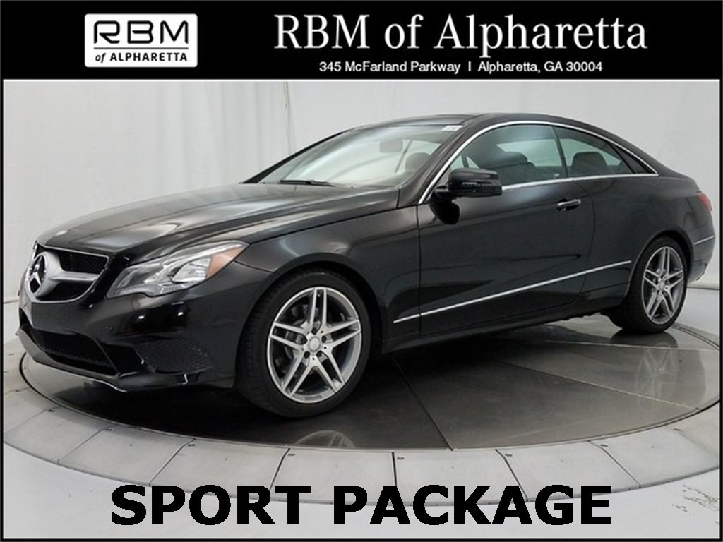 Certified pre owned 2014 mercedes benz e 350 sport coupe for Rbm mercedes benz